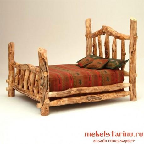 """Кровать под старину из массива дерева """"ВАРВАРА"""""""