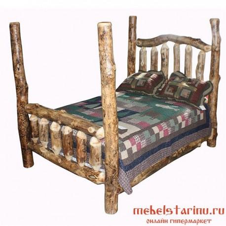 """Кровать под старину из массива дерева """"Волица"""""""