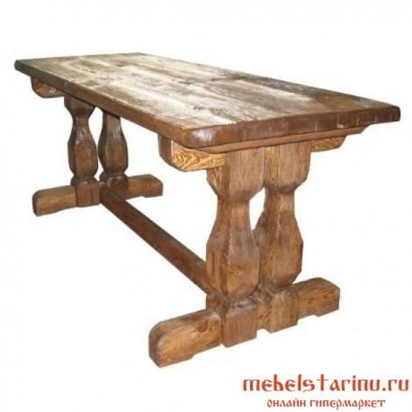 стол под старину из массива дерева лыбедь