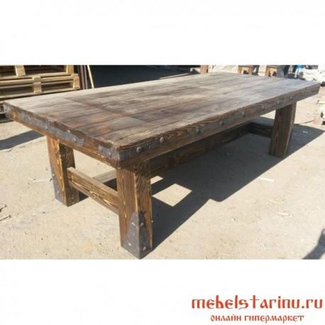 стол под старину из массива дерева лучезар