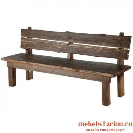 """Скамейка под старину из массива дерева """"Велижана"""""""