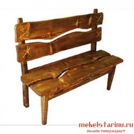 """Скамейка под старину из массива дерева """"Верея"""""""
