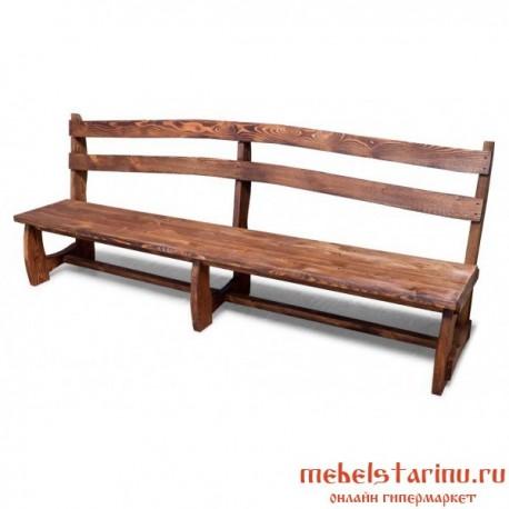 """Скамейка под старину из массива дерева """"Вестина"""""""