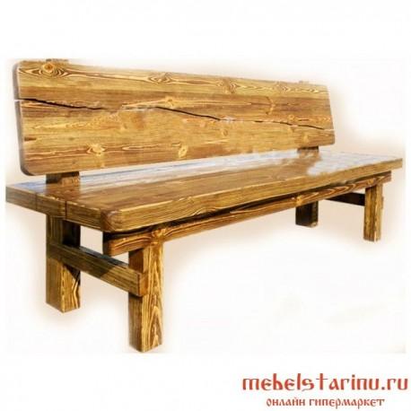 """Скамейка под старину из массива дерева """"Вецена"""""""