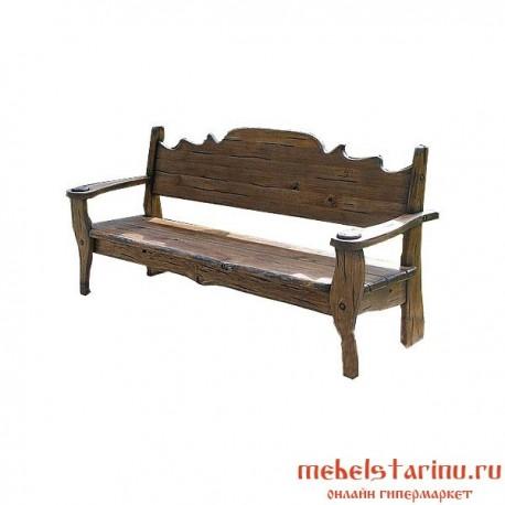 """Скамейка под старину из массива дерева """"Градислава"""""""