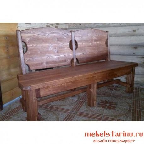 "Скамейка под старину из массива дерева ""Грифина"""