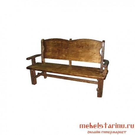 """Скамейка под старину из массива дерева """"Гроздана"""""""