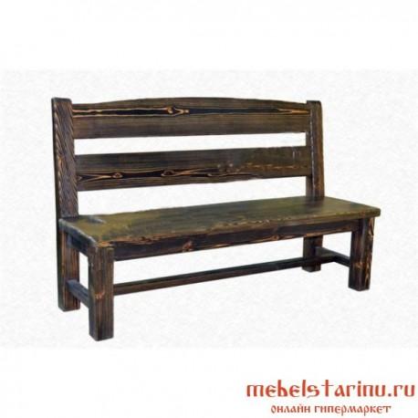 """Скамейка под старину из массива дерева """"Дабижива"""""""
