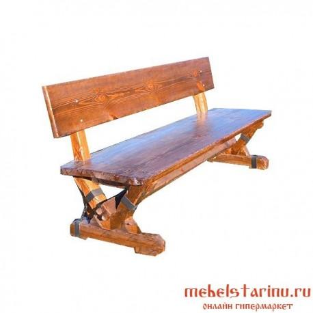 """Скамейка под старину из массива дерева """"Девана"""""""