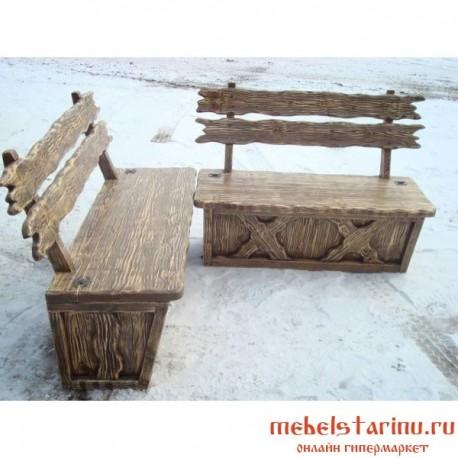 """Скамейка под старину из массива дерева """"Деяна"""""""