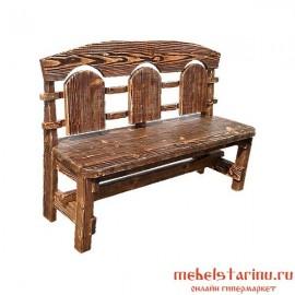 """Скамейка под старину из массива дерева """"Димия"""""""