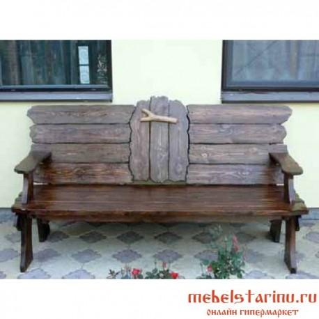 """Скамейка под старину из массива дерева """"Добролепа"""""""