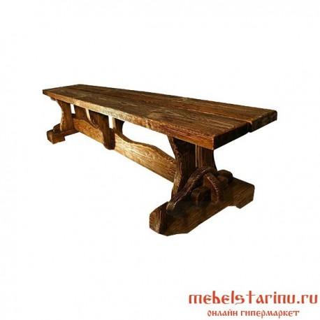 """Скамейка под старину из массива дерева """"Домислава"""""""