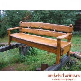 """Скамейка под старину из массива дерева """"Дородея"""""""