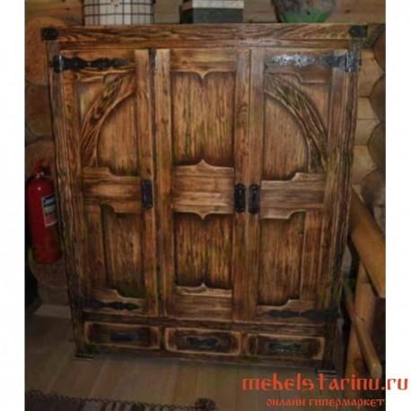 "Шкаф под старину из массива дерева ""Светослав"""