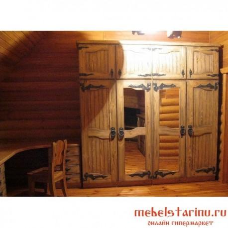 """Шкаф под старину из массива дерева """"Твердимир"""""""