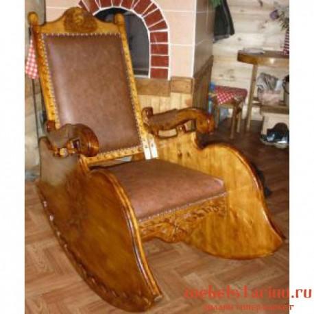 """Кресло под старину из массива дерева """"Багро"""""""