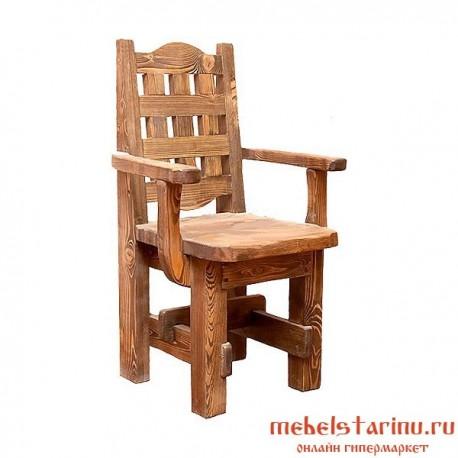 """Кресло под старину из массива дерева """"Градко"""""""