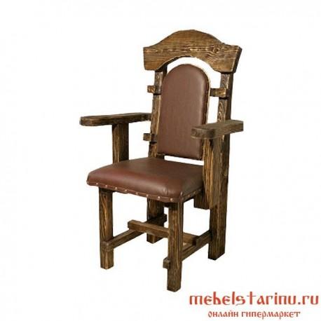 """Кресло под старину из массива дерева """"Гарко"""""""