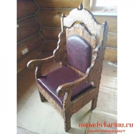 """Кресло под старину из массива дерева """"Данко"""""""