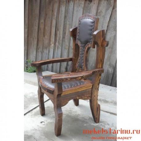 """Кресло под старину из массива дерева """"Добря"""""""