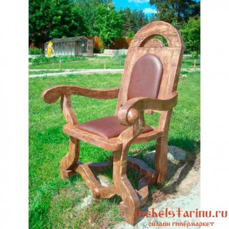 """Кресло под старину из массива дерева """"Дончо"""""""