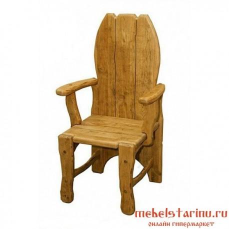 """Кресло под старину из массива дерева """"Жегало"""""""