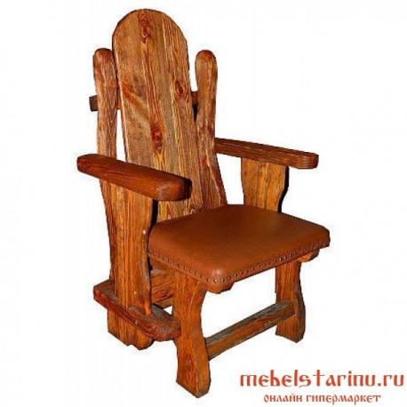 """Кресло под старину из массива дерева """"Жегло"""""""