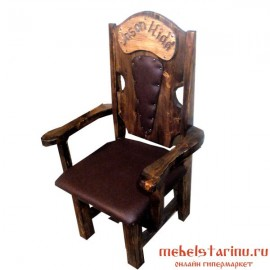 """Кресло под старину из массива дерева """"Журило"""""""
