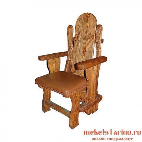 """Кресло под старину из массива дерева """"Земко"""""""