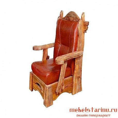 """Кресло под старину из массива дерева """"Златко"""""""
