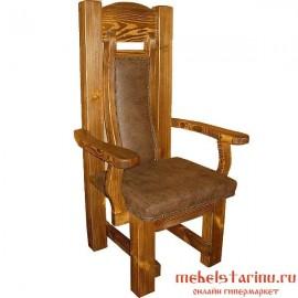 """Кресло под старину из массива дерева """"Кольцо"""""""