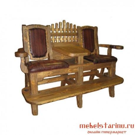 "Кресло под старину из массива дерева ""Корило"""