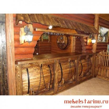 """Барная стойка под старину из массива дерева """"Велеока"""""""