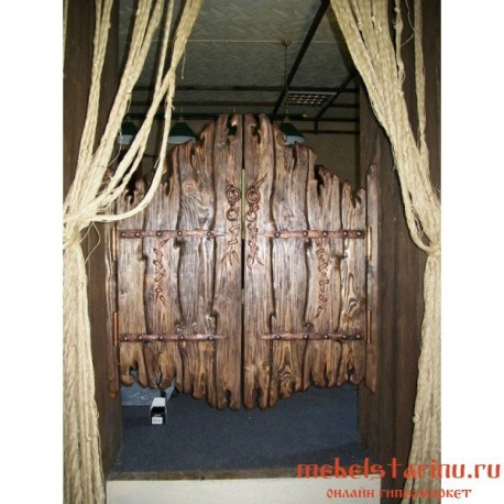 "Двери под старину из массива дерева ""Дина"""