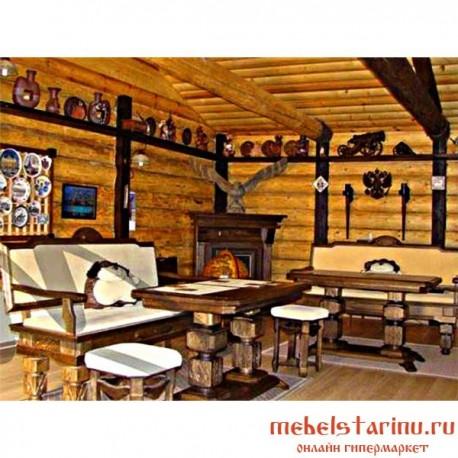 """Комплект мебели под старину из массива дерева """"Добрава"""""""