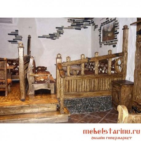 """Комплект мебели под старину из массива дерева """"Домбровка"""""""