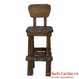 """Барный стул под старину из массива дерева """"Борай"""""""