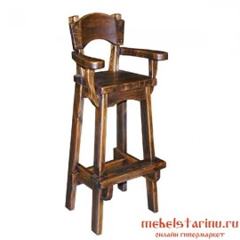 "Барный стул под старину из массива дерева ""Божан"""