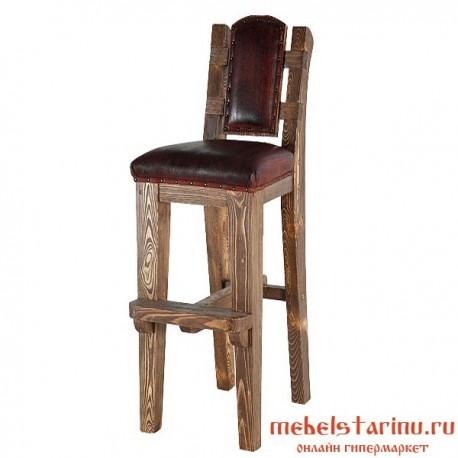 "Барный стул под старину из массива дерева ""Бойдан"""
