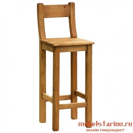 """Барный стул под старину из массива дерева """"Болеслав"""""""