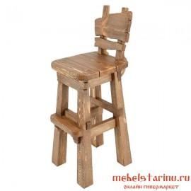 """Барный стул под старину из массива дерева """"Боруслав"""""""