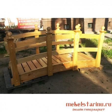 """Деревянный мостик под старину из массива дерева """"Бежан"""""""