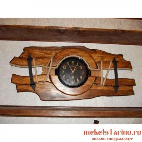 """Часы под старину из массива дерева """"Будимил"""""""