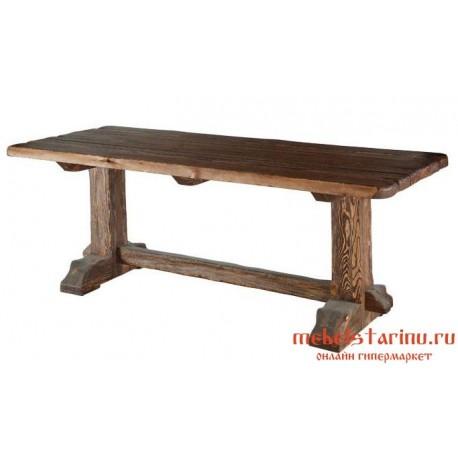 """Стол под старину из массива дерева """"Привал"""""""