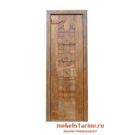 """Дверь под старину из массива дерева """"Драгия"""""""