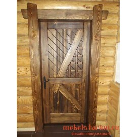 """Дверь под старину из массива дерева """"Дружана"""""""