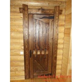 """Дверь под старину из массива дерева """"Дуля"""""""