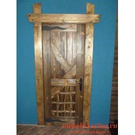 """Дверь под старину из массива дерева """"Ендвита"""""""