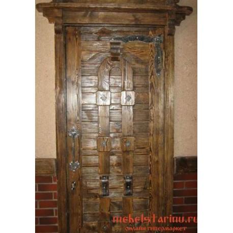 """Дверь под старину из массива дерева """"Завиша"""""""